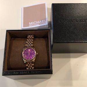 Michael Kors Lexington purple watch
